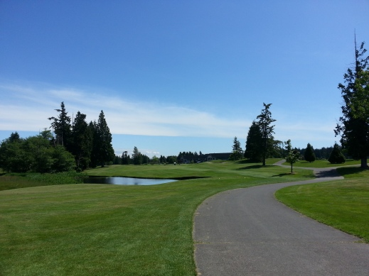 Loomis Trails 18th Hole Blaine, WA
